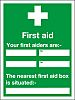 RS PRO PVC Green/White, First Aid-Text, English First