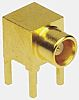 Amphenol 50Ω Right Angle Through Hole MCX Connector,
