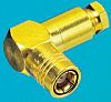 Radiall 50Ω Right Angle Cable Mount SMB Connector,