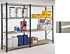 RS PRO Chipboard Grey Twinspan Chipboard Shelf, 18mm,