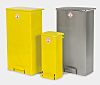 Unicorn Containers 64L Yellow Pedal Steel Waste Bin
