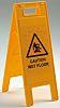 JSP Caution Wet Floor Hazard Warning Sign (English)