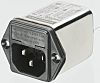 Schaffner,1A,250 V ac Male Snap-In IEC Filter