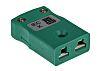 Conector hembra RS PRO para Termopar tipo K de color Verde