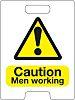 RS PRO Black/Yellow Plastic Safety Labels, Caution Men