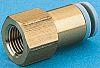 SMC Hydraulic Straight Compression Tube Fitting Brass, Nitrile