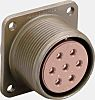 JAE 7 Way Box Mount MIL Spec Circular Connector Receptacle, Socket Contacts,Shell Size 16S