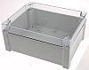 Fibox TEMPO, Grey, Transparent ABS Enclosure, IP65, 240 x 191 x 107.4mm