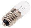 E10 Indicator Light, Clear, 28 V, 40 mA,