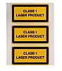 Brady Black/Yellow Vinyl Safety Labels, Class 1 Laser