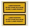 Brady Black/Yellow Vinyl Safety Labels, Laser Radiation Do