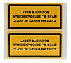 Brady Black/Yellow Vinyl Safety Labels, Laser Class 3B-Text