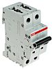 ABB System M Pro 16A MCB Mini Circuit Breaker, 2P Curve C, Breaking Capacity 10 kA