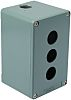 Schneider Electric Blue Metal Harmony XAP Push Button Enclosure - 3 Hole 22mm Diameter