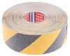 Tesa Black, Yellow PVC 15m Anti-slip Hazard Tape,