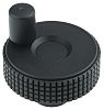 Elesa Black Technopolymer Hand Wheel 34498-C9, 50mm