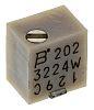 2kΩ, SMD Trimmer Potentiometer 0.25W Top Adjust Bourns,