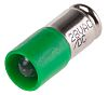 LED Reflector Bulb, Midget Groove, Green, Single Chip,