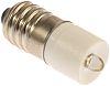 LED Reflector Bulb, E10, White, Single Chip, 10