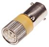 LED Reflector Bulb, BA9s, Yellow, Multichip, 10mm dia.,