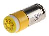LED Reflector Bulb, Midget Groove, Yellow, Multichip, 5