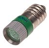 LED Reflector Bulb, E10, Green, Multichip, 10 mm