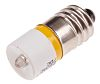 LED Reflector Bulb, E10, Yellow, Single Chip, 10