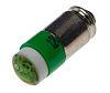 LED Reflector Bulb, Midget Groove, Green, Multichip, 5