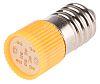 LED Reflector Bulb, E10, Yellow, Multichip, 10 mm
