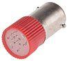 LED Reflector Bulb, BA9s, Red, Multichip, 10 mm