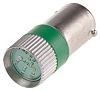 LED Reflector Bulb, BA9s, Green, Multichip, 10 mm