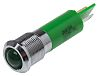 RS PRO Green Indicator, 12 V, 12mm Mounting