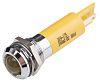 RS PRO Yellow Indicator, 24 V ac/dc, 12mm