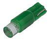 LED Reflector Bulb, Wedge, Green, Single Chip, 6.1