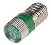 LED Reflector Bulb, E10, Green, Multichip, 10mm dia.,