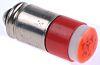 LED Reflector Bulb, Midget Groove, Red, Multichip, 5