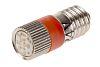 LED Reflector Bulb, E10, Red, Multichip, 10mm dia.,