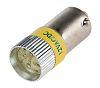 LED Reflector Bulb, BA9s, Yellow, Multichip, 10mm dia.,