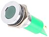 RS PRO Green Indicator, 12 V, 16mm Mounting