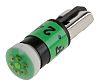LED Reflector Bulb, Wedge, Green, Multichip, 6.1 mm