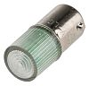 LED Reflector Bulb, BA9s, Green, Single Chip, 10