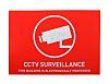 ABUS Red/White Surveillance Sticker, CCTV Surveillance-Text,