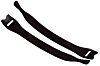 HellermannTyton Black Hook & Loop Cable Tie, 150mm
