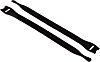HellermannTyton Black Hook & Loop Cable Tie, 200mm