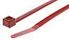 HellermannTyton Red Cable Tie Nylon, 150mm x 3.5