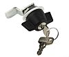 RS PRO Stainless Steel Lockable Handle, Key to