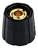 Sifam Potentiometer Knob, Collet Type, Black, 6.35mm Shaft