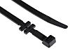 RS PRO Black Nylon Cable Tray Cable Tie,