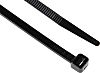 RS PRO Black Nylon Cable Tie, 190mm x