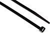 RS PRO Black Cable Tie Nylon, 203mm x